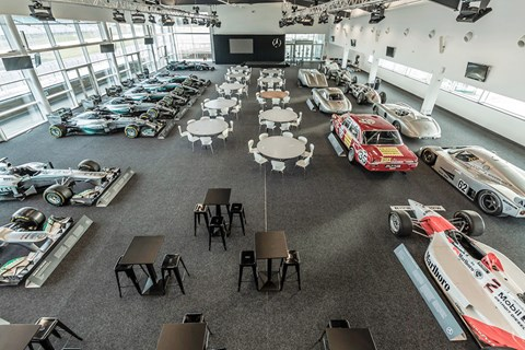 Mercedes 125 racing history hall