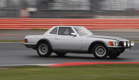 Mercedes 125 racing history 450 SLC