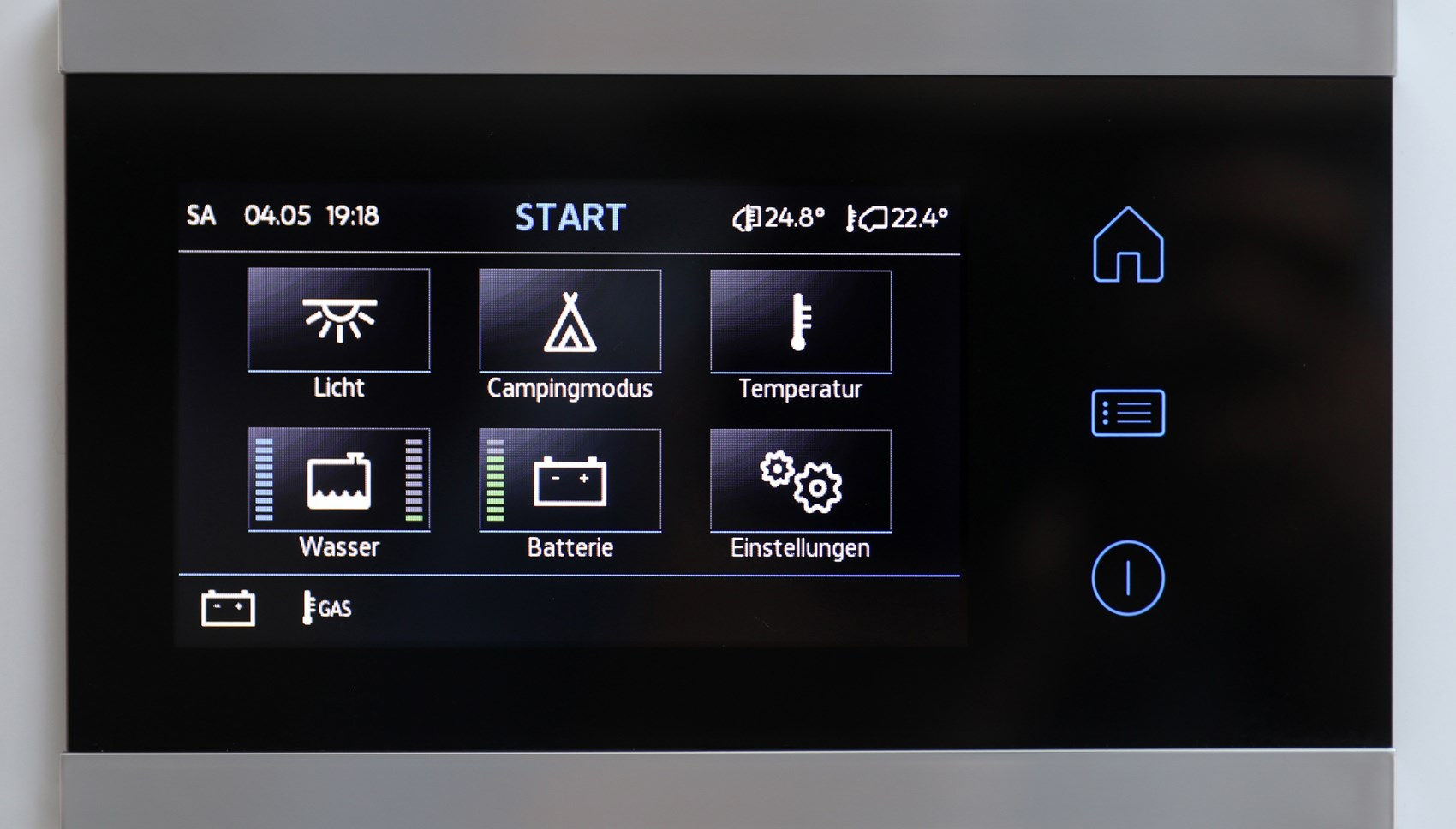 VW Grand California touch panel