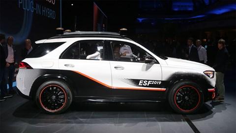 Mercedes ESF safety car at Frankfurt motor show 2019 - side view