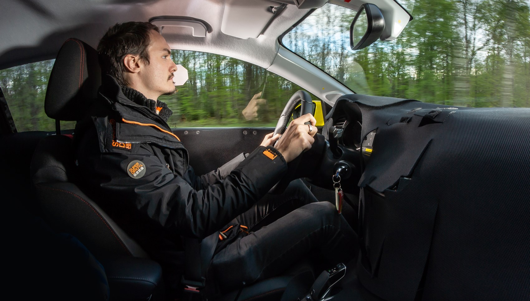 Vauxhall Corsa pre-production Jake driving