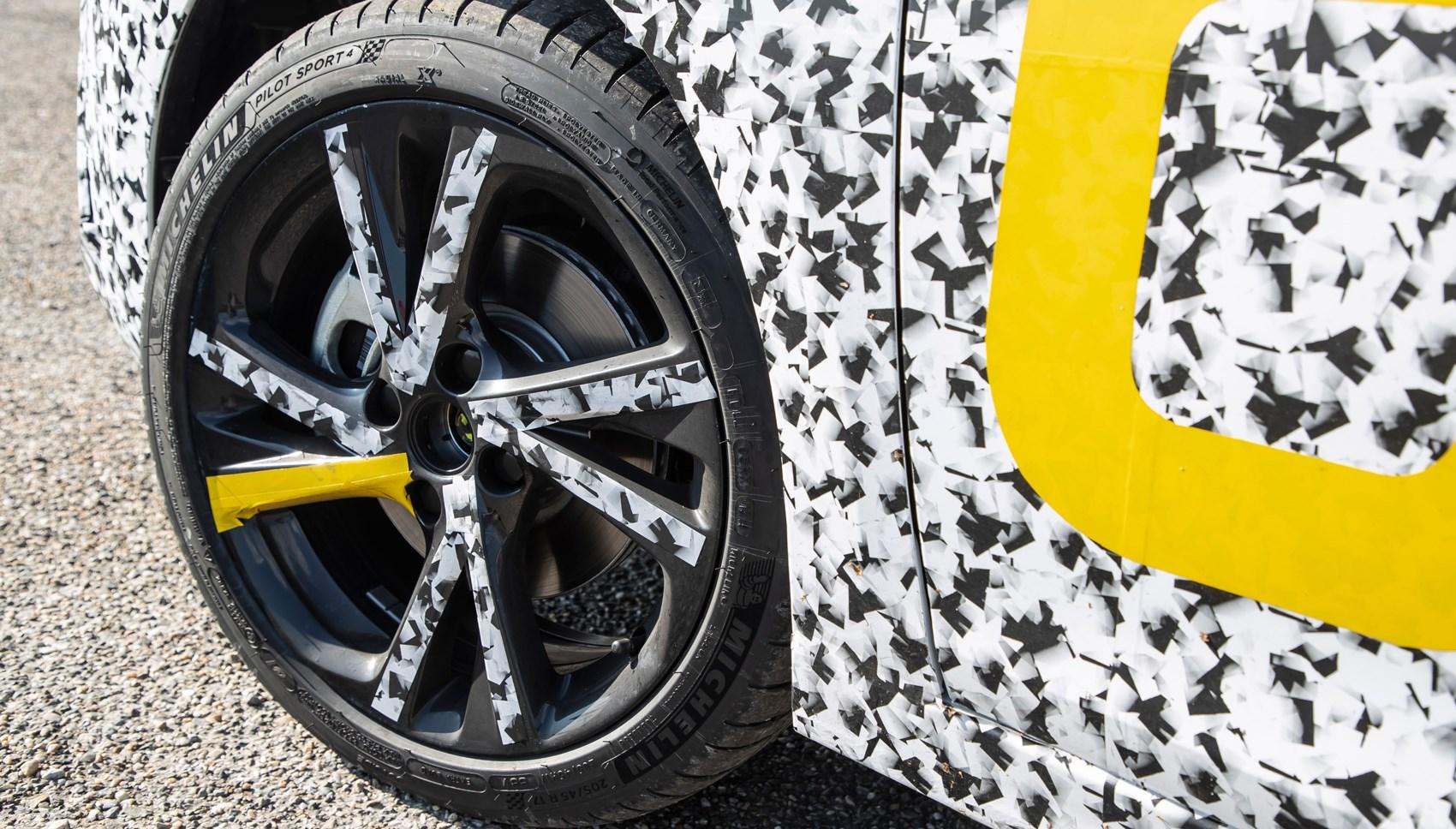 Vauxhall Corsa pre-production wheel