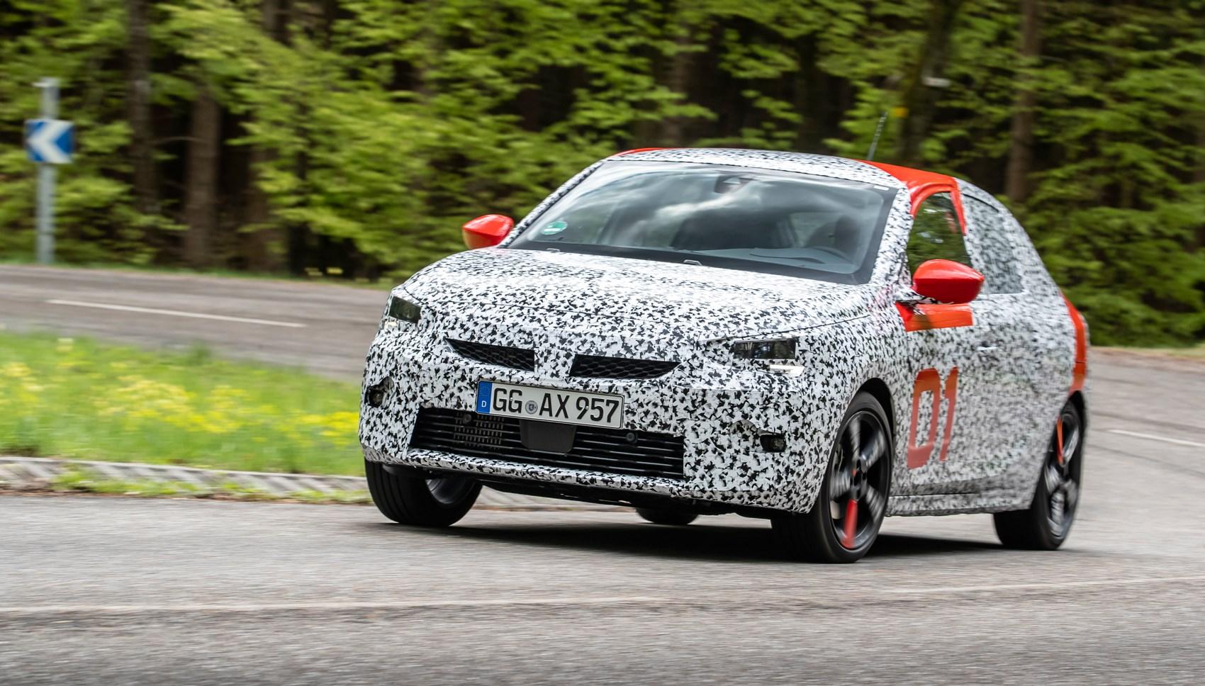 Vauxhall Corsa pre-production cornering