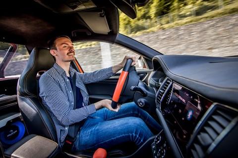 Skoda Mountiaq Jake driving