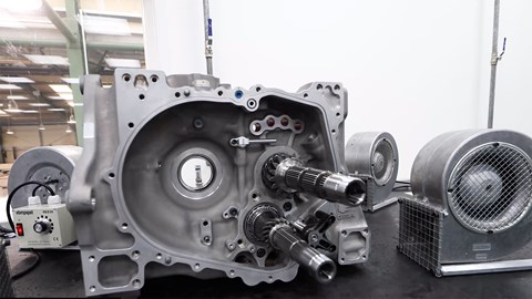 X-Trac gearbox details of Gordon Murray T.50 supercar