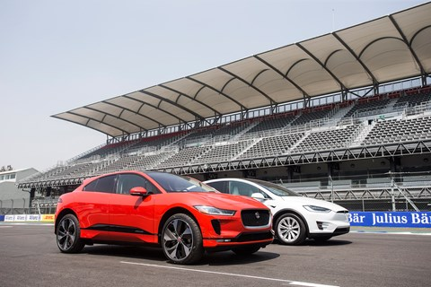 Jaguar i-Pace and Tesla Model X