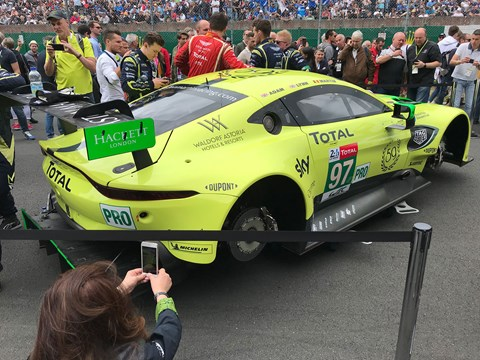 Aston Martin on pole in the GTE Pro class