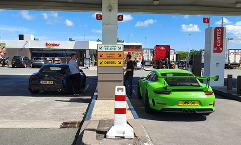 Driving a Toyota Supra and a Porsche 911 GT3 RS down to Le Mans 2019. Way to travel!