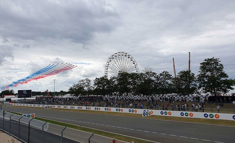 Fly past at Le Mans 24hrs