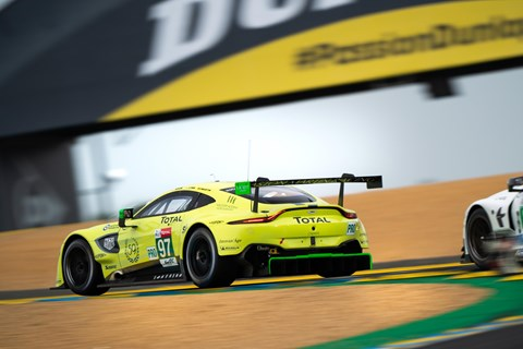 Competitive racing in the GT class at Le Mans 2019