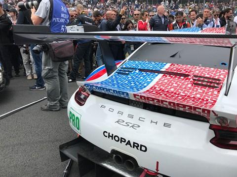 Porsche 911 at Le Mans: a common sight