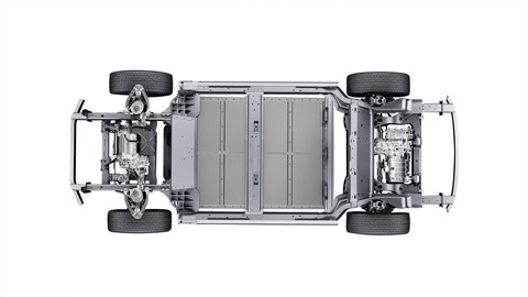 The Nio electric car skateboard chassis underpins all current models