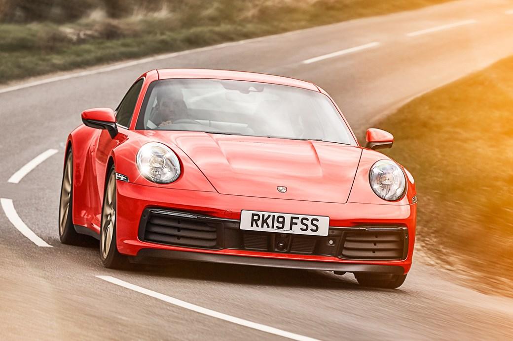Porsche 911 992 front cornering
