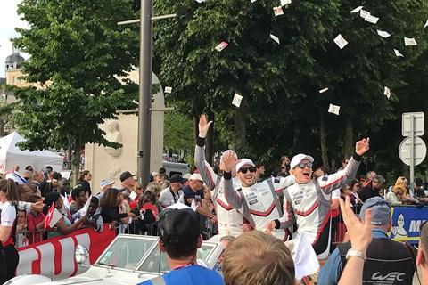 Le Mans drivers parade