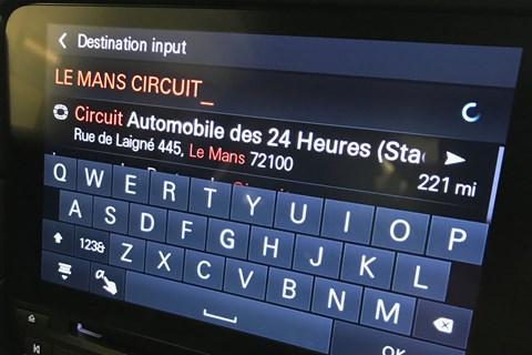 Porsche Le Mans sat nav