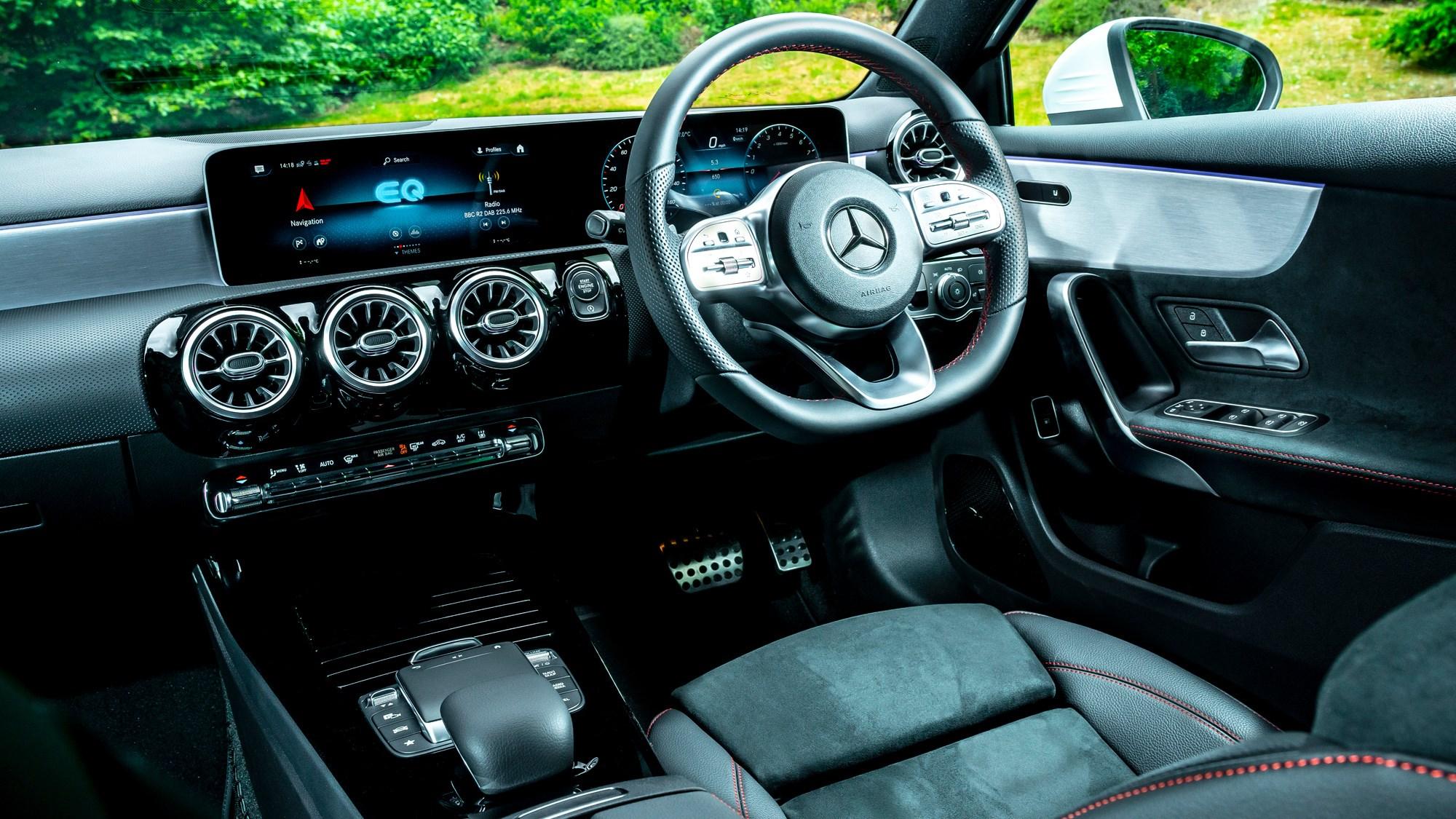Mercedes-Benz A250e plug-in hybrid review, 2020, interior