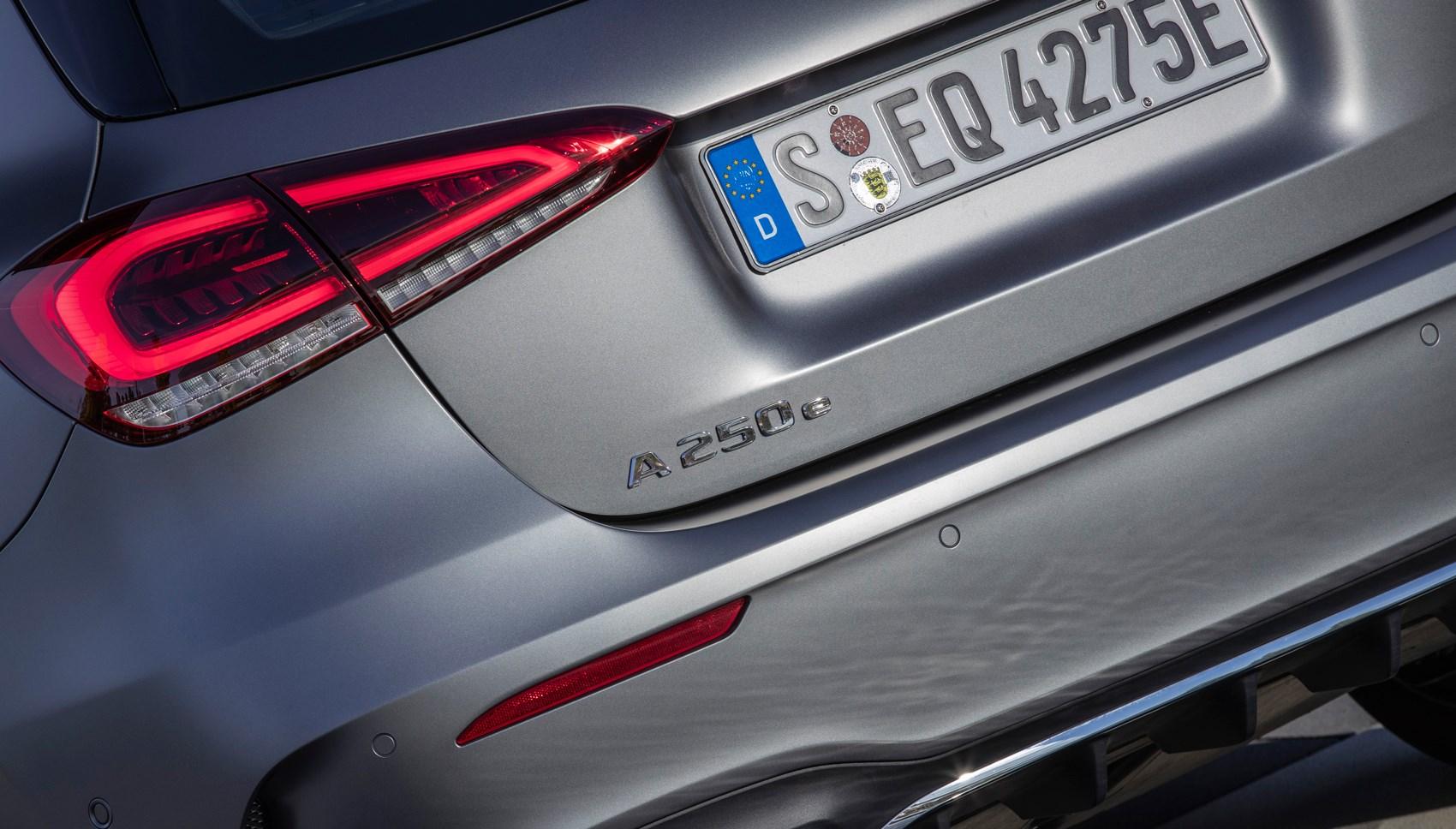 Mercedes A250e badge