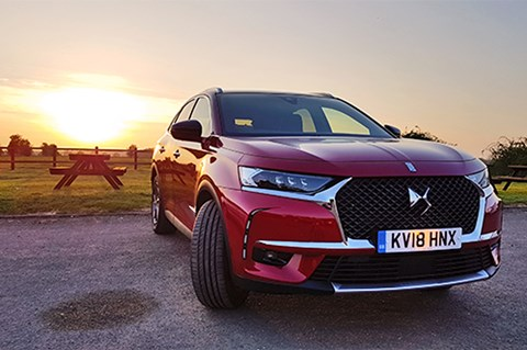 DS 7 Crossback sunset