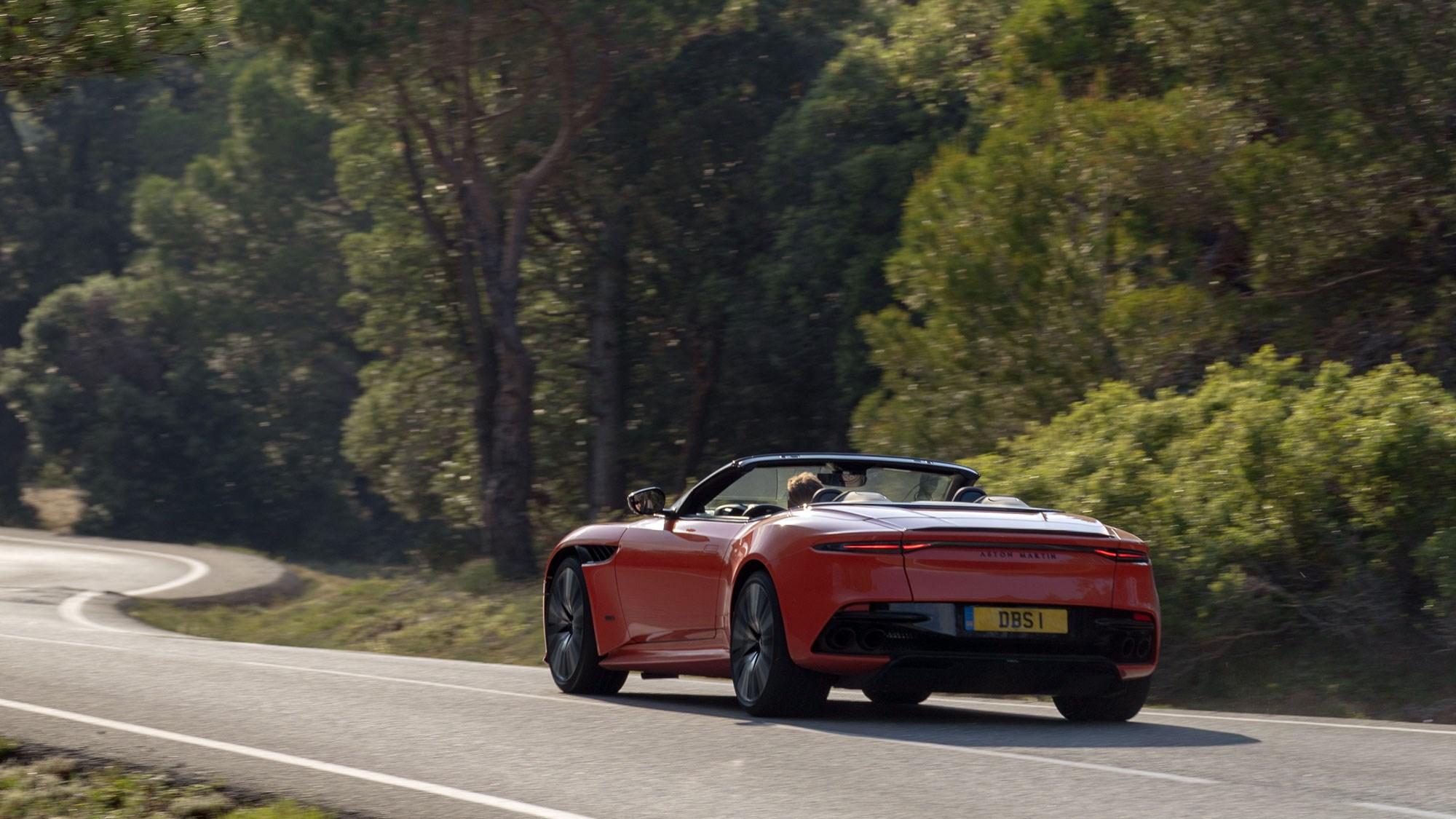 Aston DBS Superleggera rear tracking