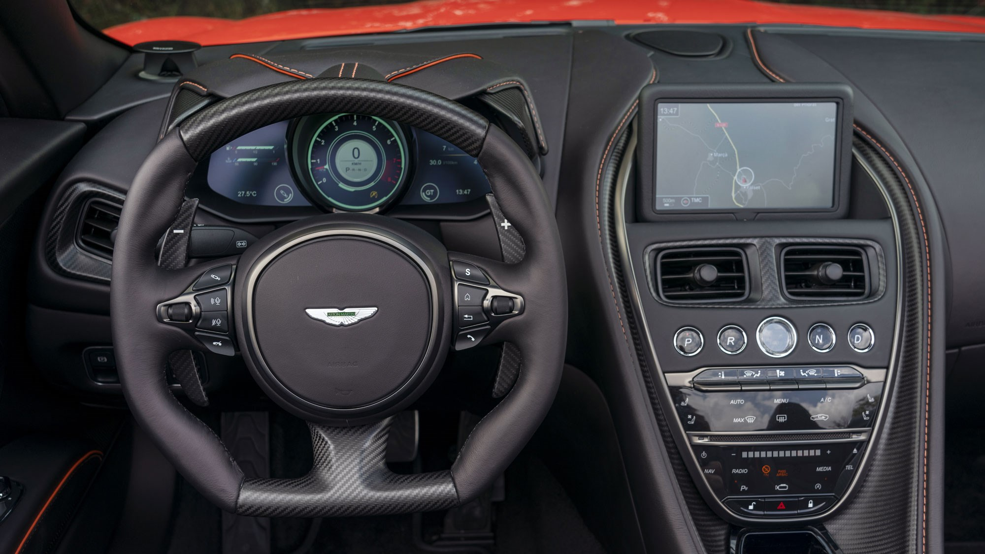 Aston DBS Superleggera interior