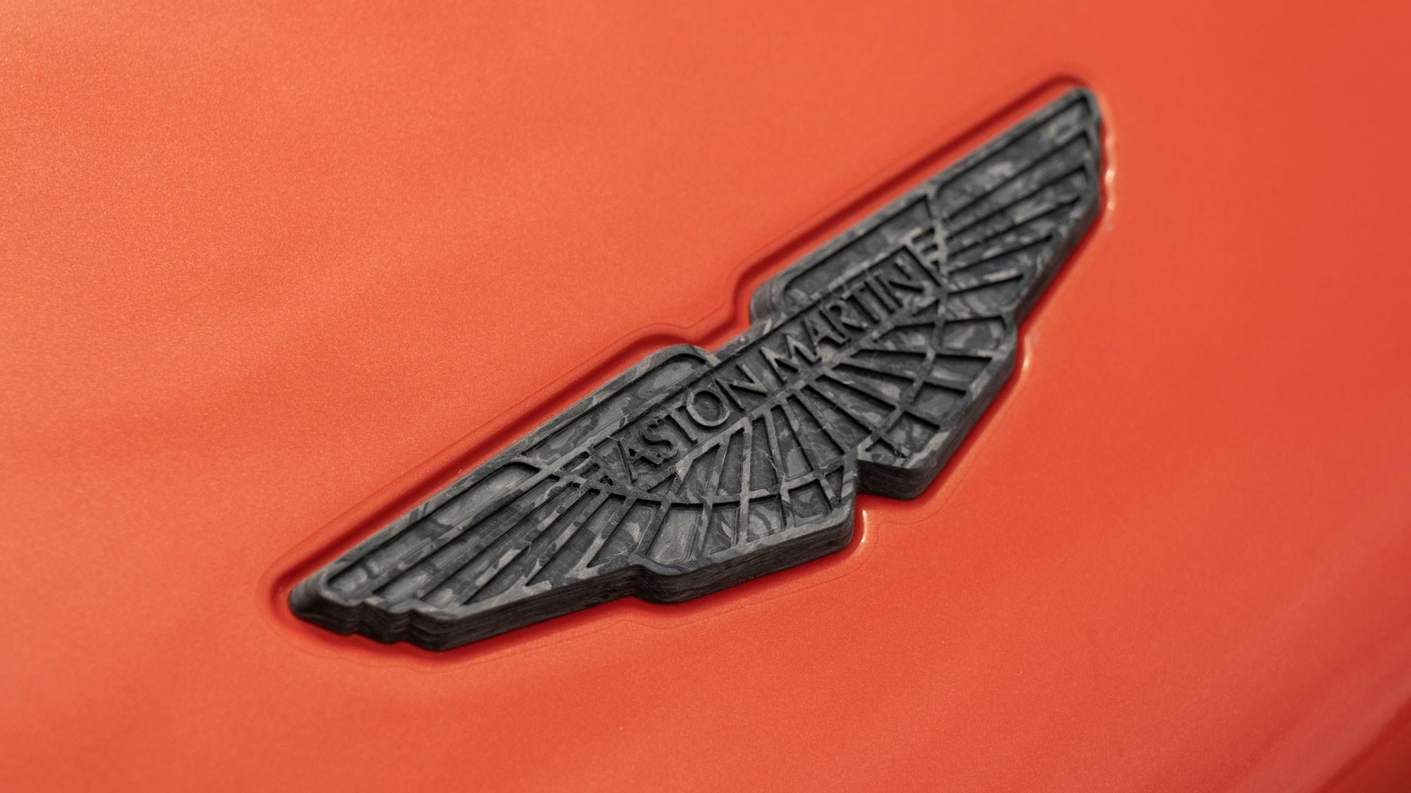 Aston DBS Superleggera badge