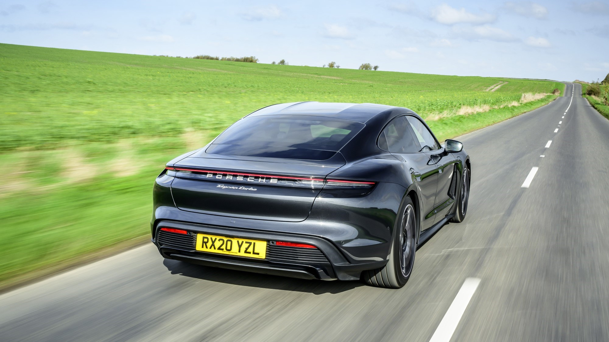 2021 Porsche Taycan rear three quarter