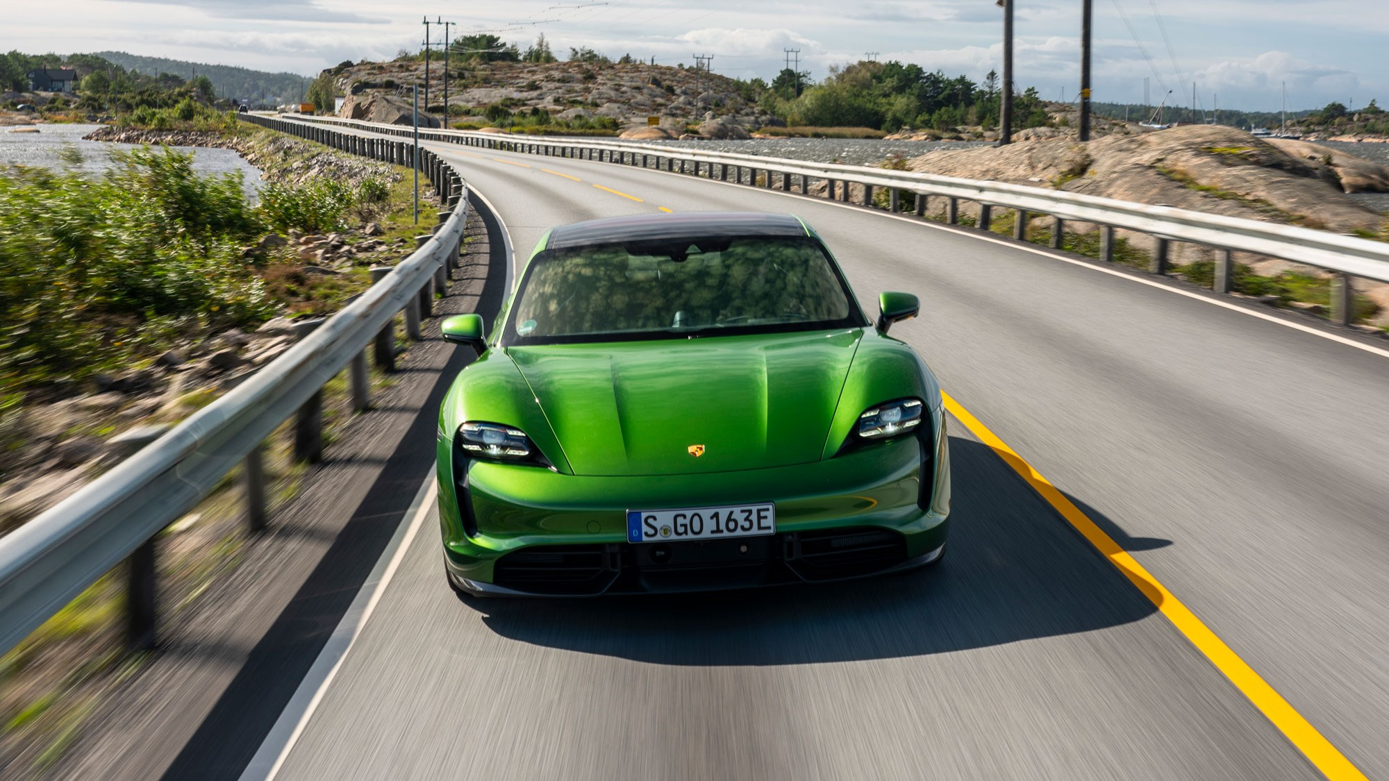Porsche Taycan Turbo Review Stuttgart Goes Electric Car Magazine