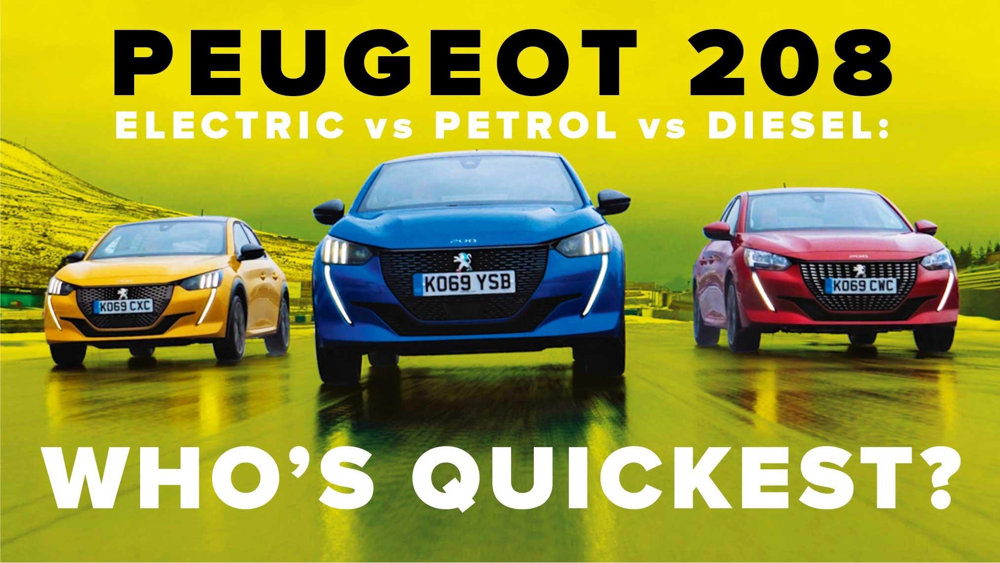 Peugeot 208 petrol vs electric vs diesel: watch CAR's video