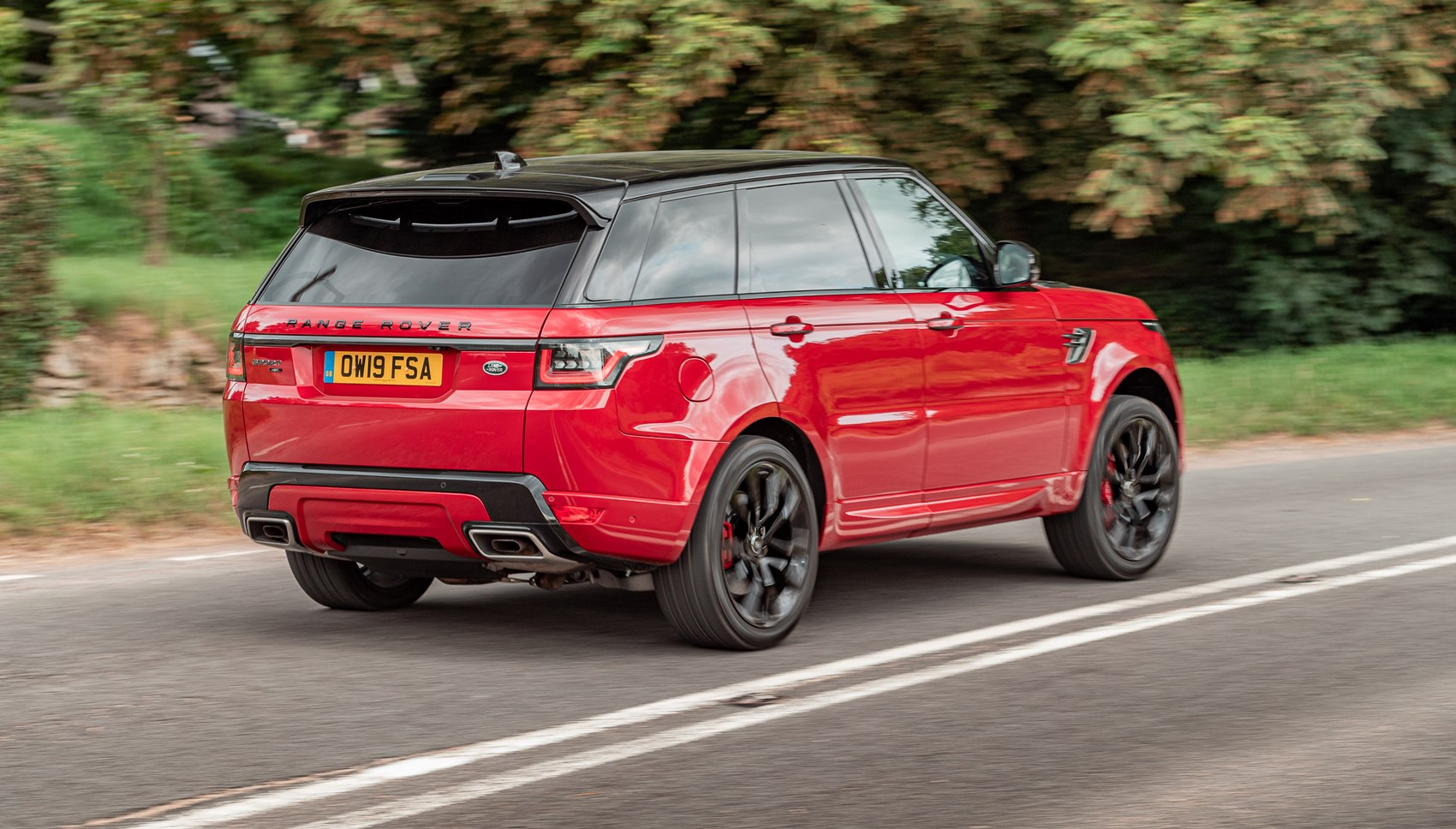 Range Rover Sport HST rear cornering
