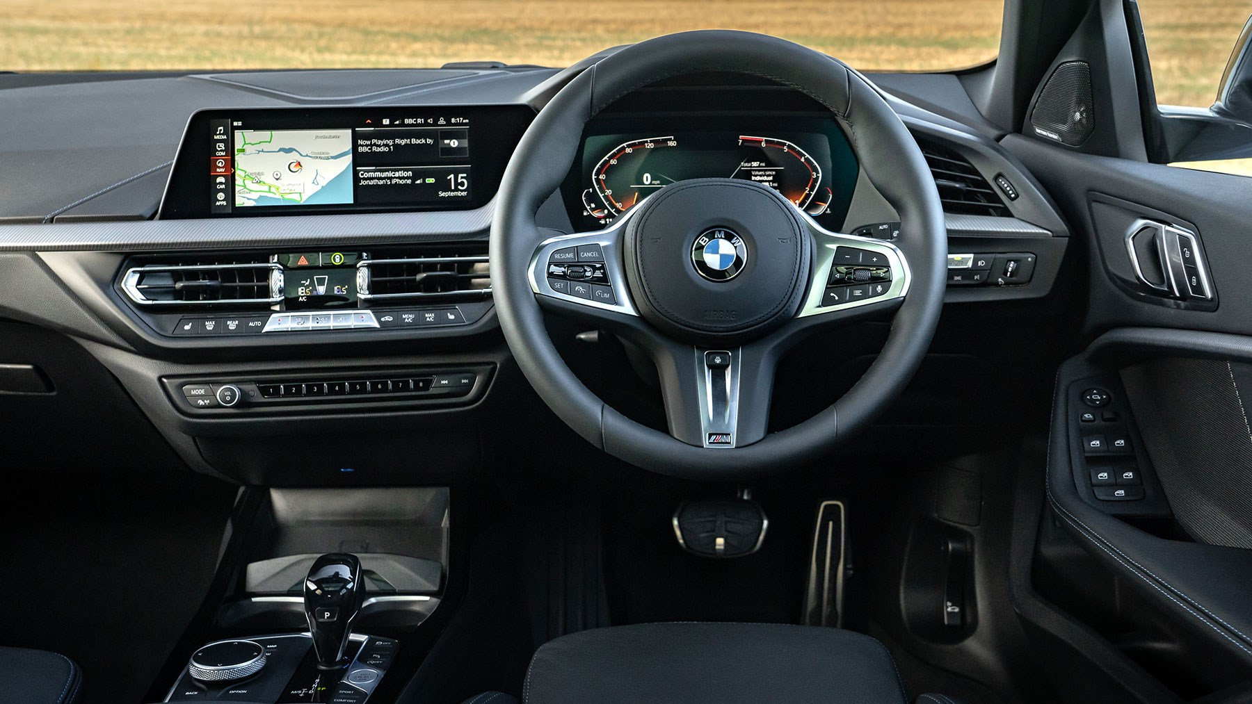 BMW 1-series interior: right-hand drive cabin