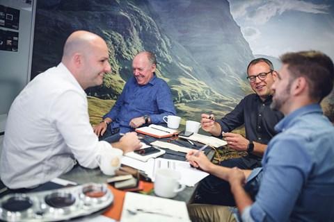Callum design founding partners (l to r): Adam Donfrancesco, Ian Callum, Tom Bird, David Fairbairn