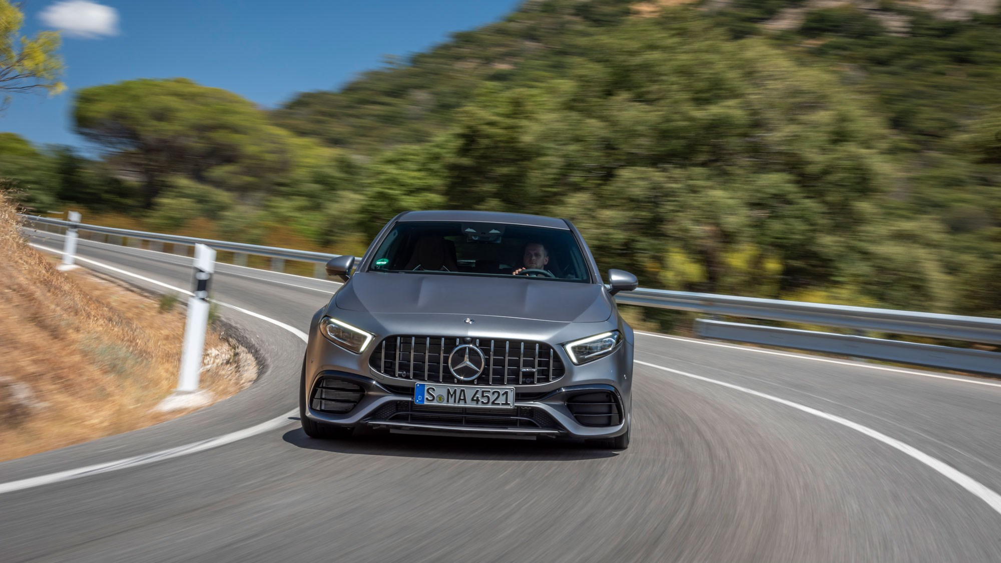 The A45 gets the AMG Panamerica grille