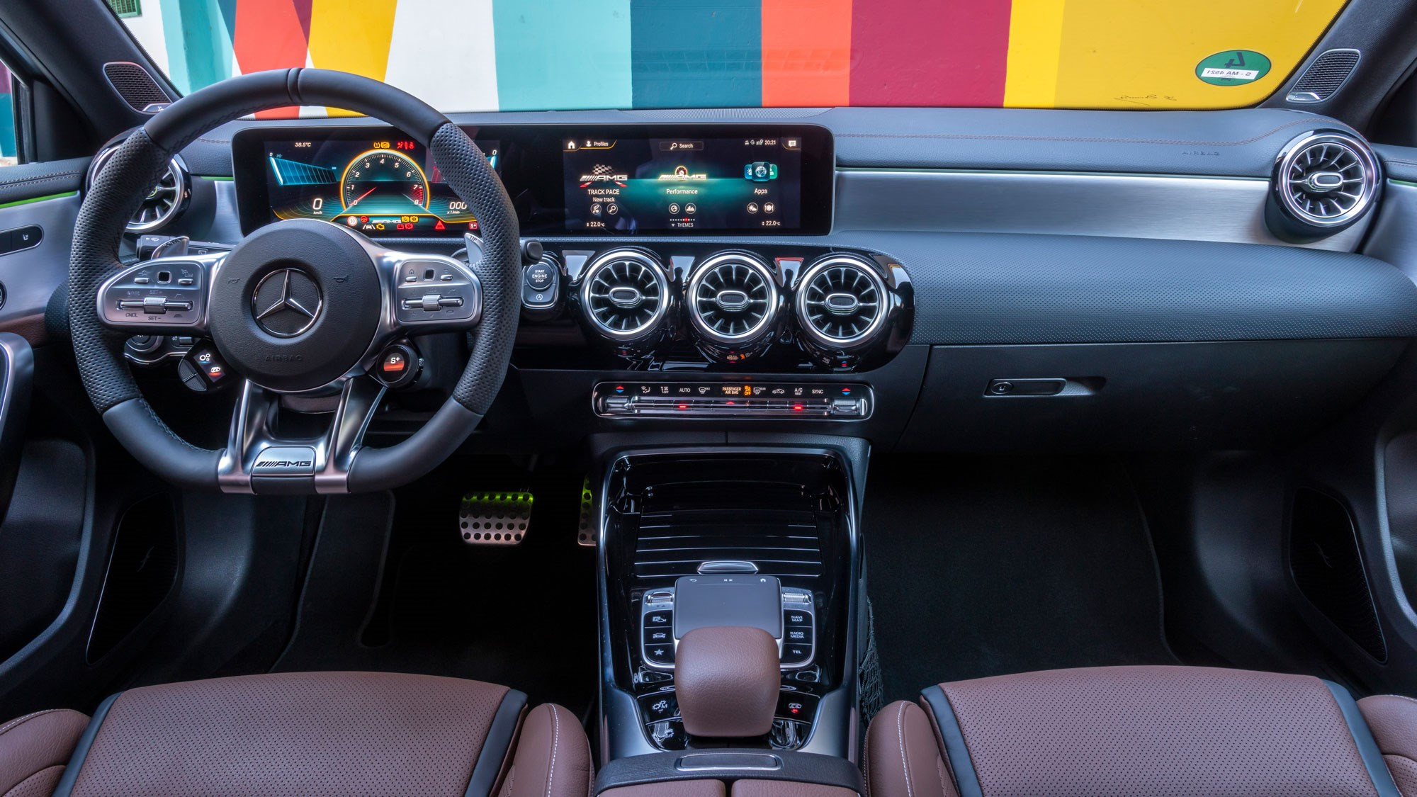 The A45 S interior