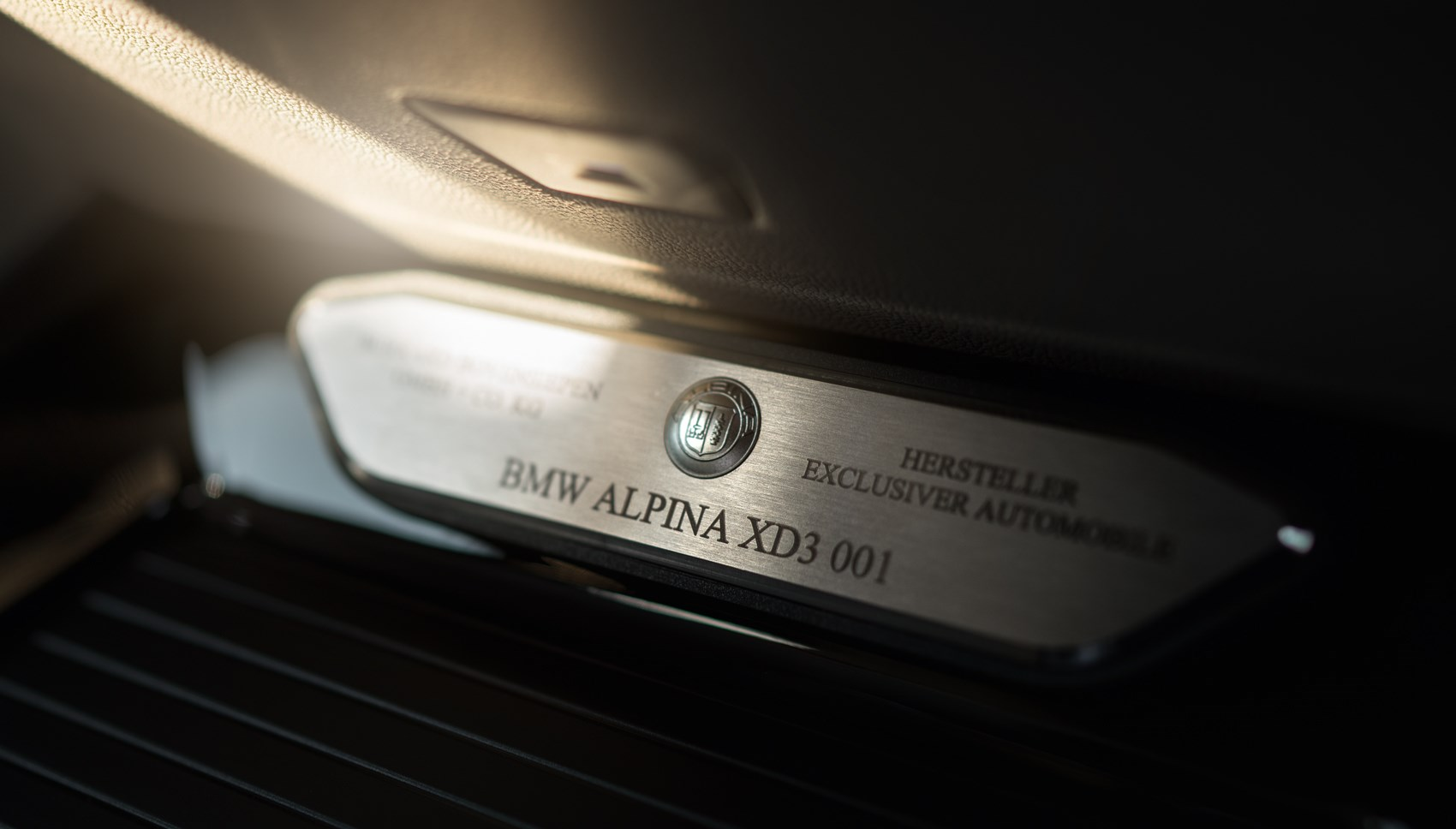 Alpina XD3 plaque