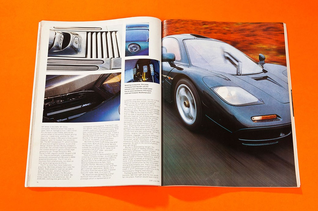 Into Orbit The First McLaren F Road Test CAR Archive June - Show me my car