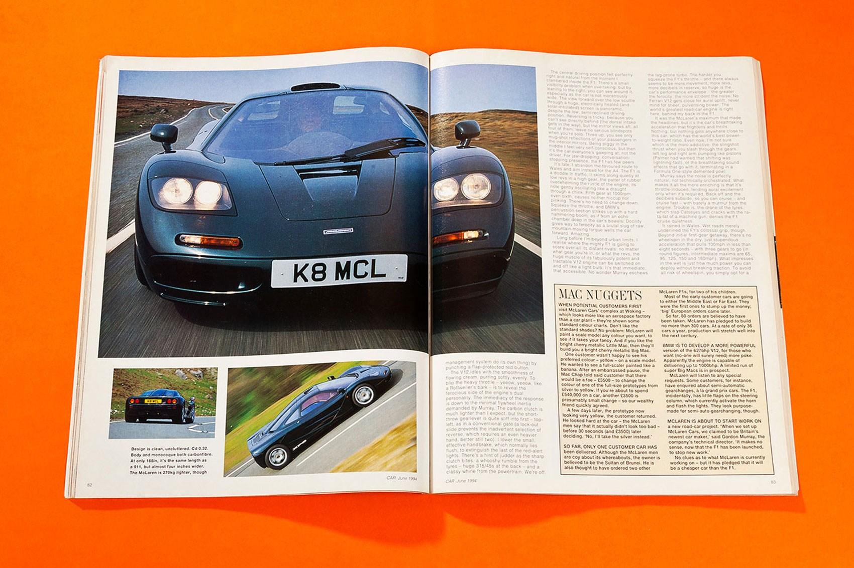 ... Into Orbit: The First McLaren F1 Road Test (CAR Archive, June 1994) ...