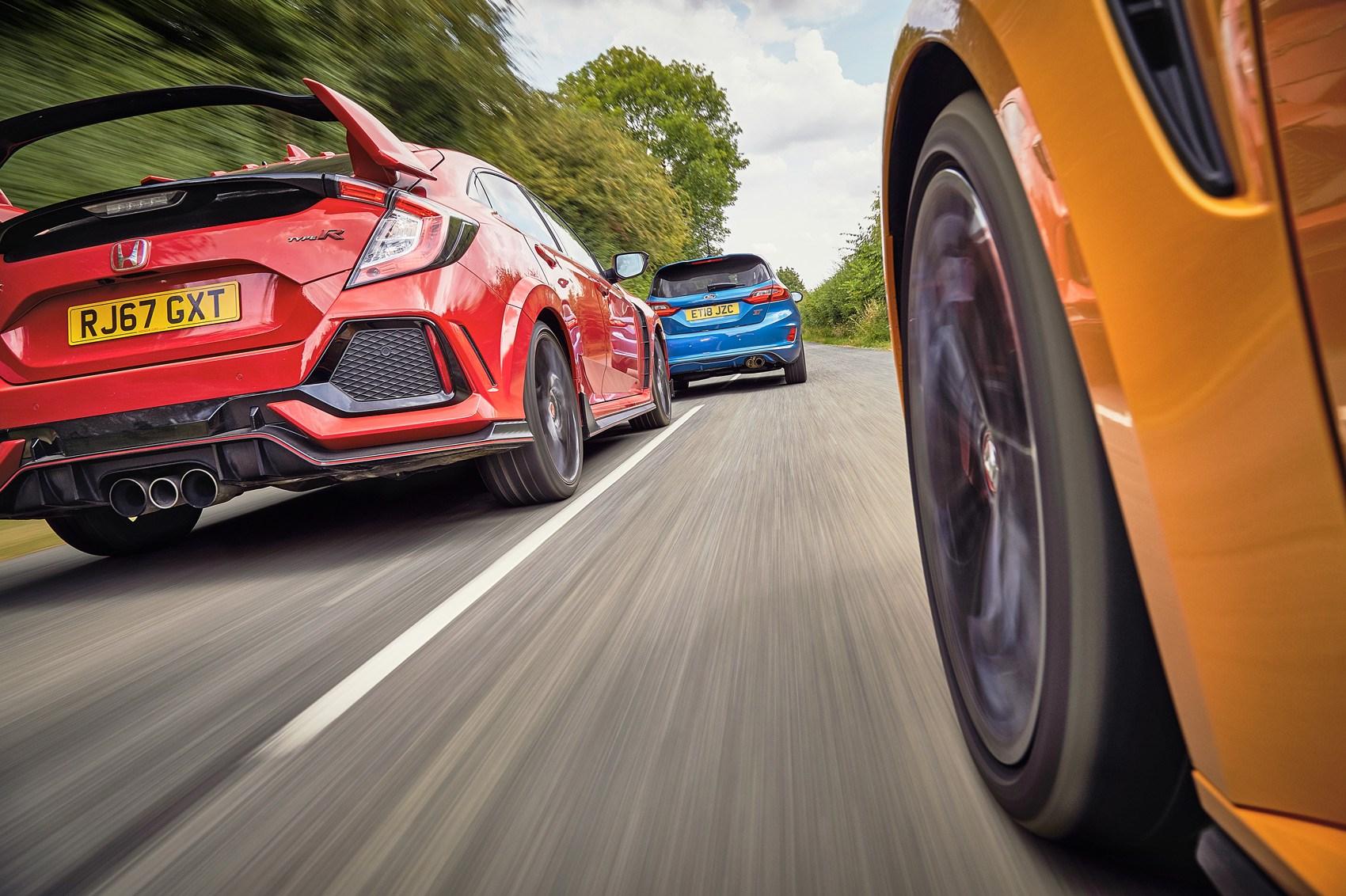 Megane RS Cup vs Civic Type R vs Fiesta ST triple test review | CAR