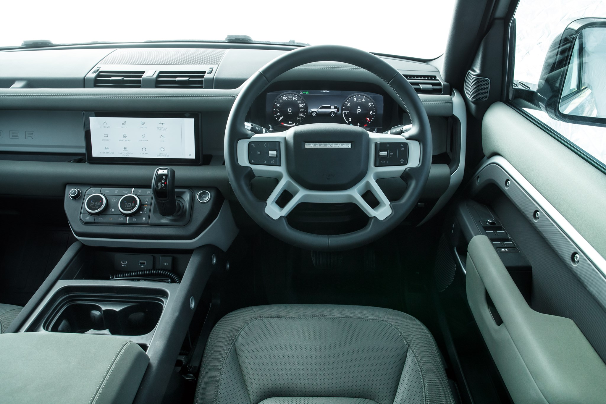 Land Rover Defender (2020) interior view