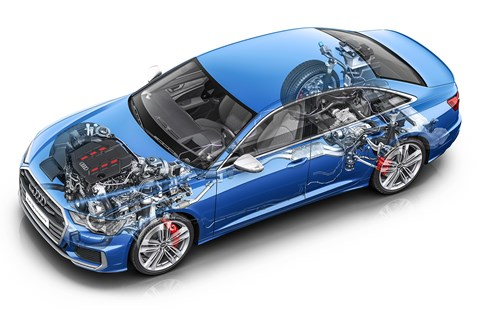 Audi S6 powertrain