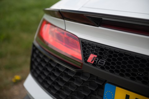 Audi R8 LTT rear badge