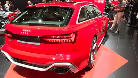 Audi RS6 Avant at the Frankfurt motor show 2019 - rear view