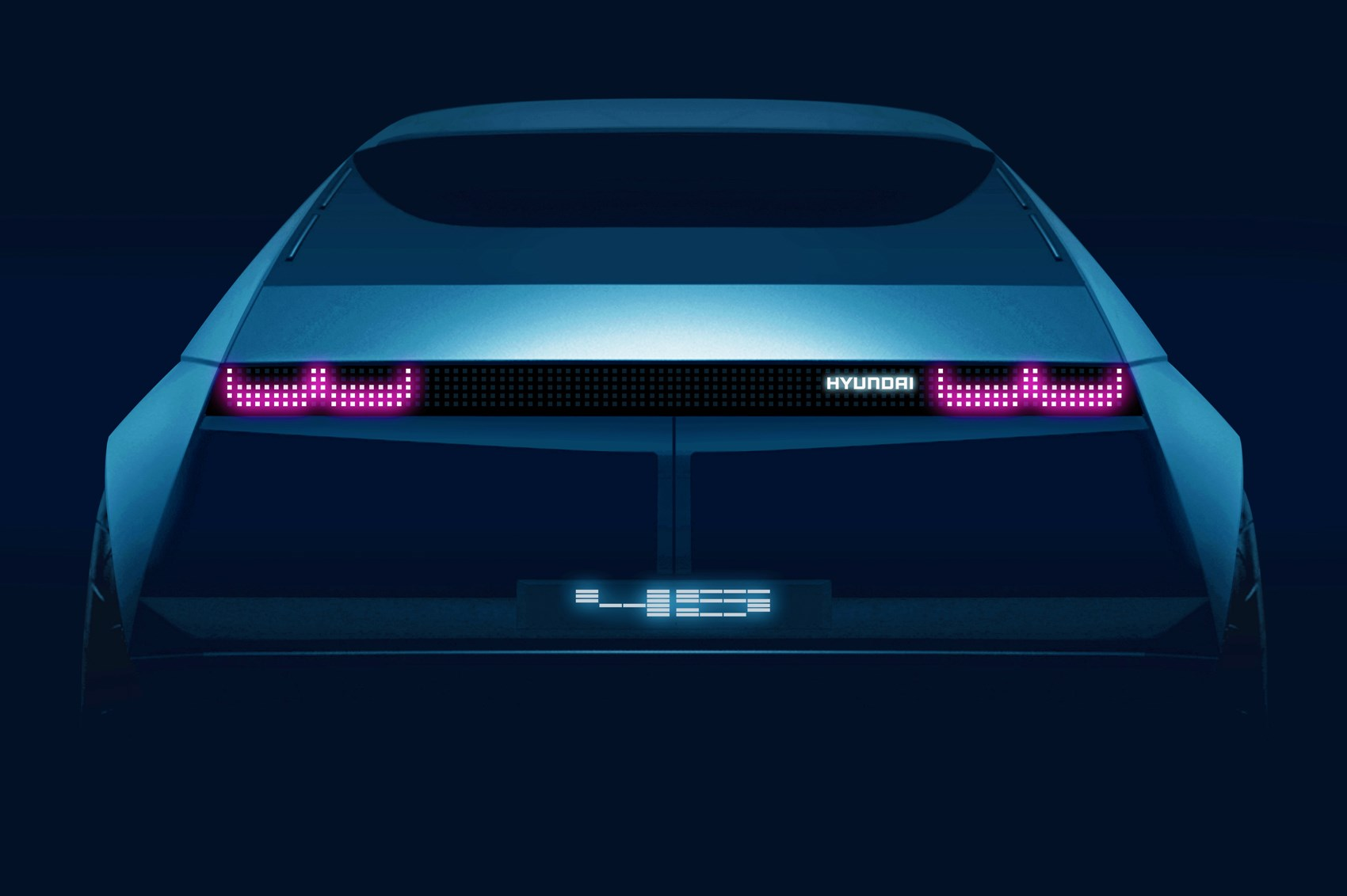 Hyundai 45 Concept has a graphic lightbar for taillights