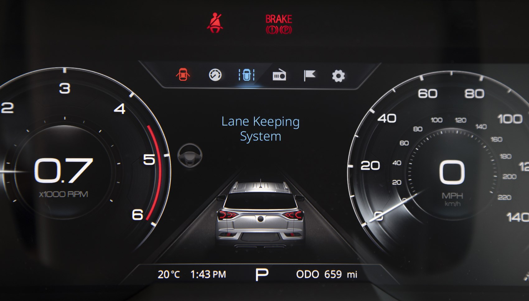 Korando instrument screen
