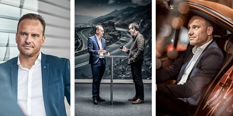 Markus Flasch, head of BMW M, and Tim Pollard, photographed by Sam Chick