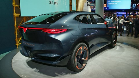 Cupra Tavascan at Frankfurt motor show 2019 - rear view