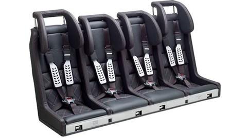 A four-berth Multimac children's seat
