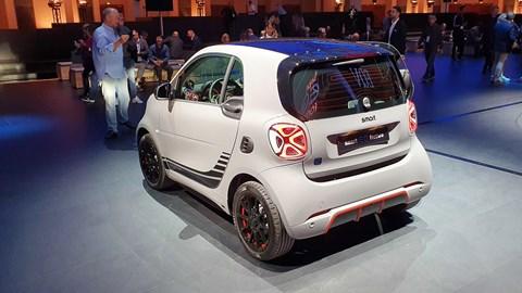 Smart EQ ForTwo at Frankfurt motor show 2019 - rear view