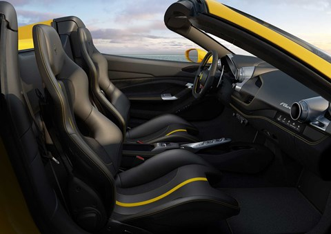 Ferrari F8 Spider interior