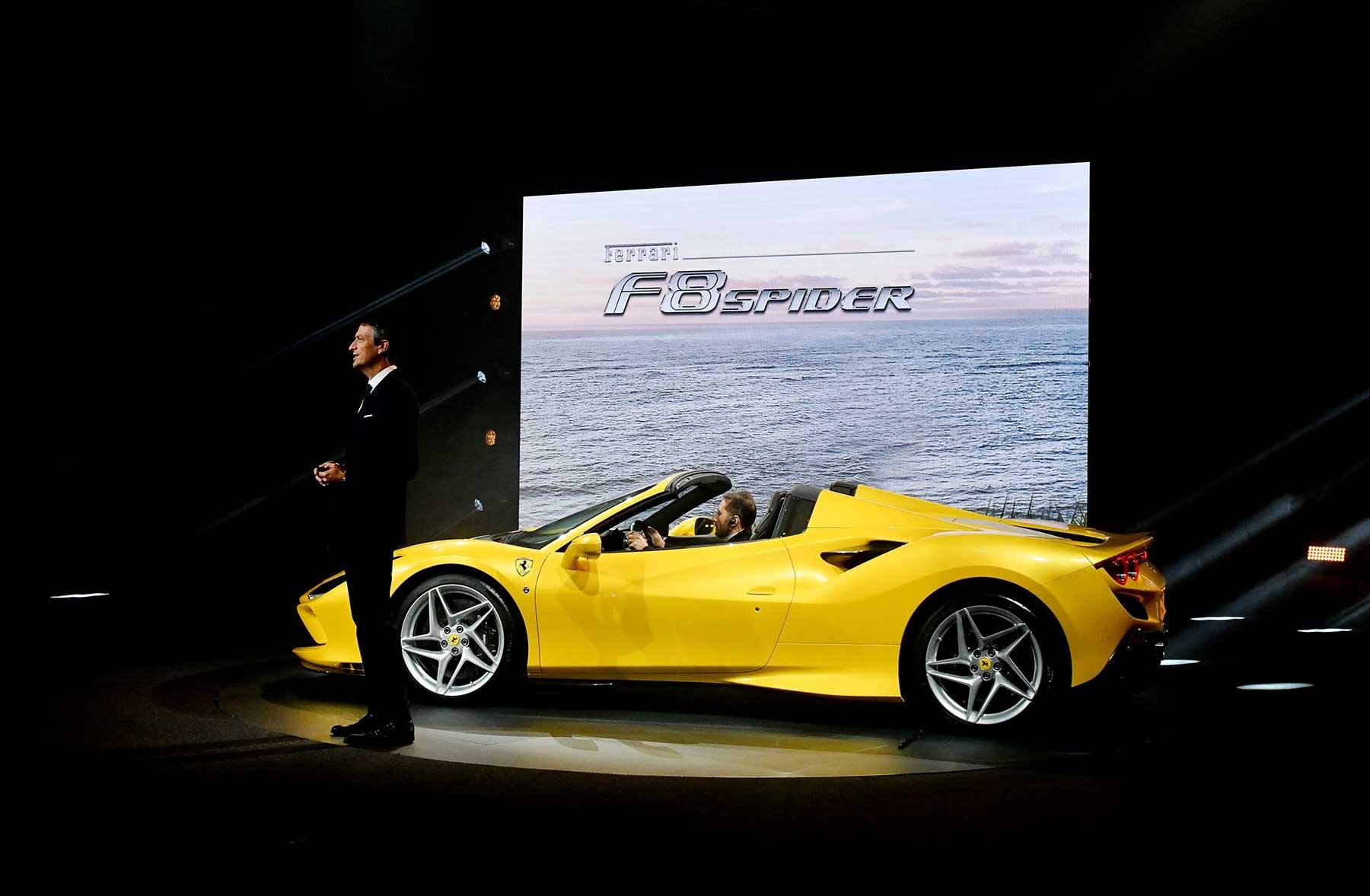 Image result for Ferrari F8 Spider V8 engine
