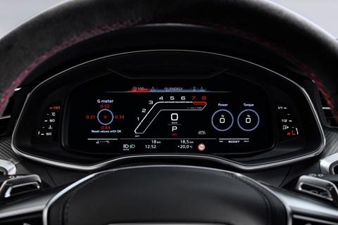 Audi RS7 instruments